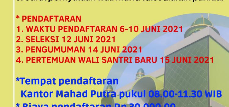 Penerimaan Santri Baru Ma'had Al-azhar MTsN 2 Kota Kediri 2021